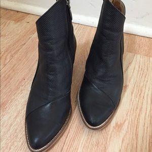 Liebling Black Handmade Leather Booties